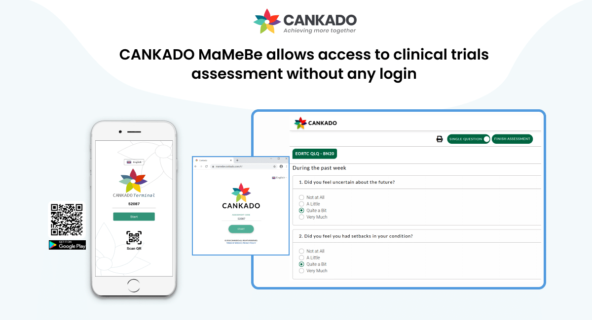 CANKADO MaMeBe allows access to clinical trials assessment without any login 2