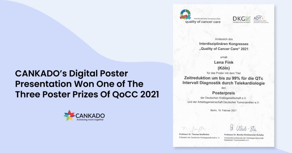 CANKADO's Digital Poster Presentation Won One of The Three Poster Prizes Of QoCC 2021 2